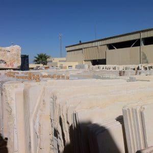 Stock de tranches - Pierre d'Égypte - Calcaire dur pour dallage