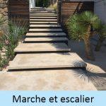Marche et escalier en pierres naturelles