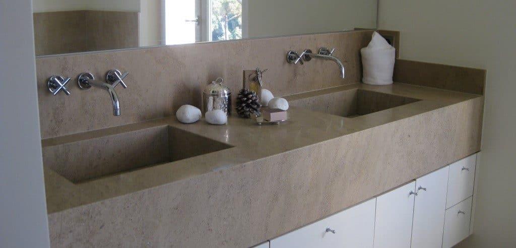 Pierre pour salle de bain - Plan de vasque en pierre d'Egypte