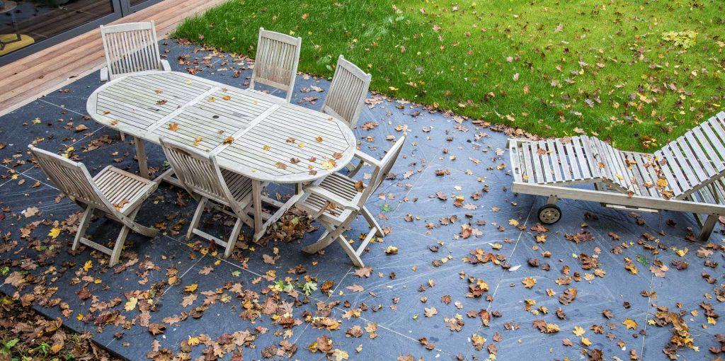 dalles ardoises pour sol de terrasse