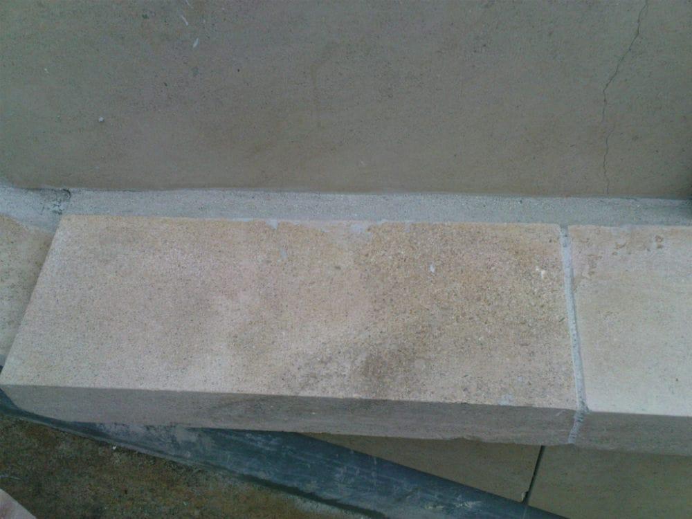 Bordure en pierre beige Cèdre Honey