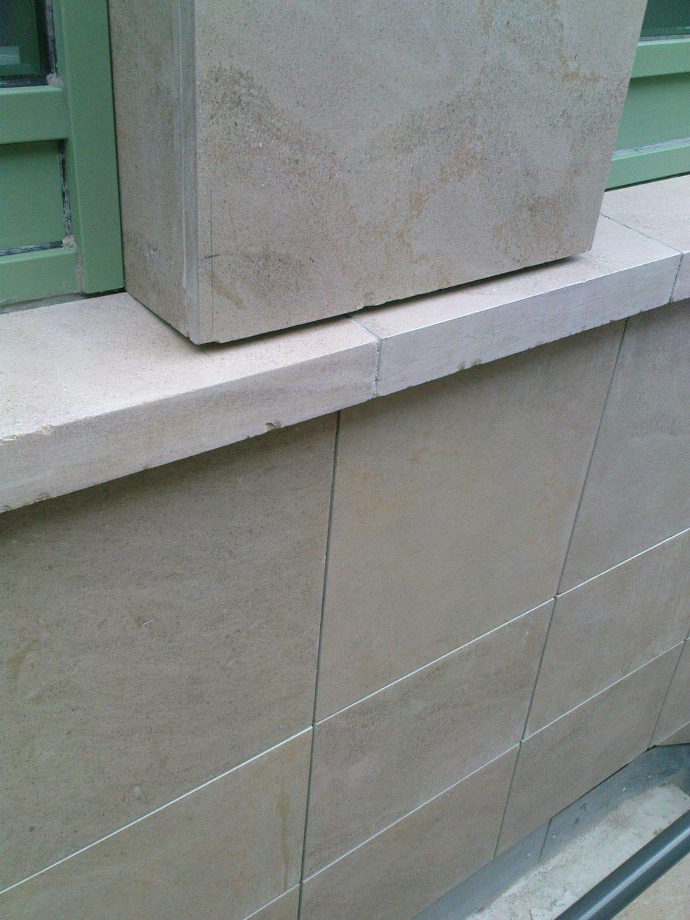 Aménagement de façade en pierre