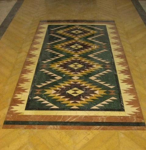 Sol en pierre - effet décoratif tapis