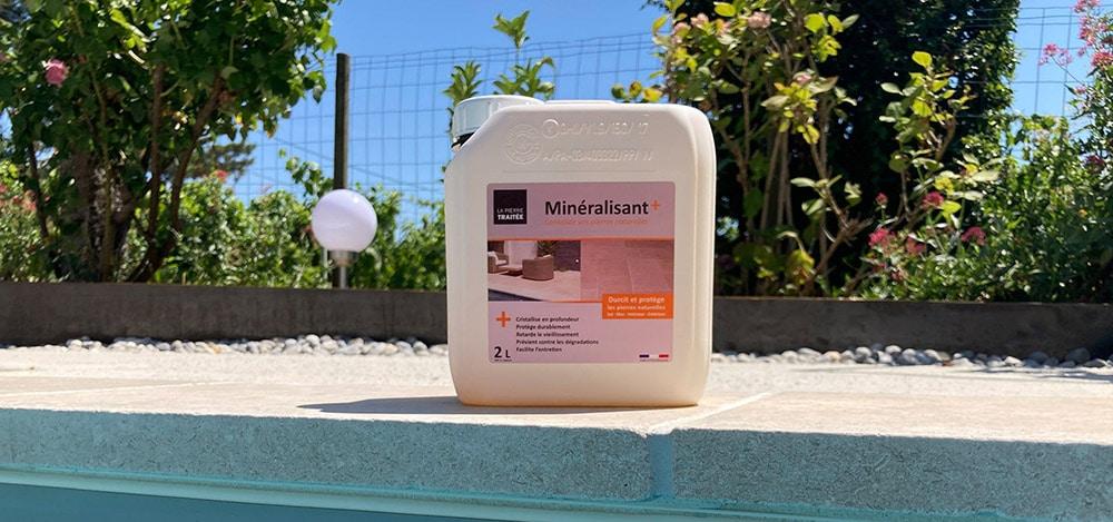 Minéralisant, produit de traitement pour margelle et pierre naturelle